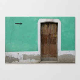 Sentido Unico Canvas Print