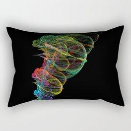 Fractal whirlwind Rectangular Pillow