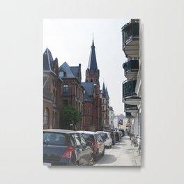 Streets of Copenhagen Metal Print