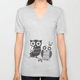 Boho Owl Unisex V-Neck