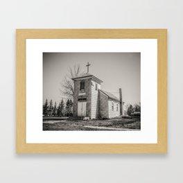 Community Church, Hingham, Montana Framed Art Print