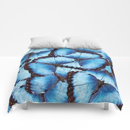 Blue Morpho Butterfly Comforters