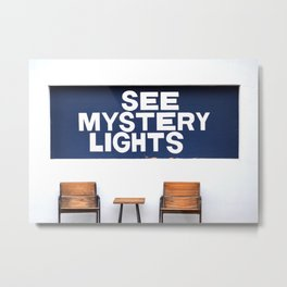 See Mystery Lights Sign Marfa, TX Metal Print