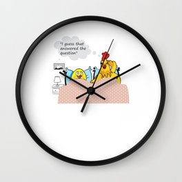 Dirty Joke Chicken or the Egg Wall Clock