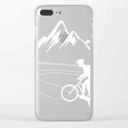 Single Track Downhill Biker Gift product Mountain Biking Tee Clear iPhone Case