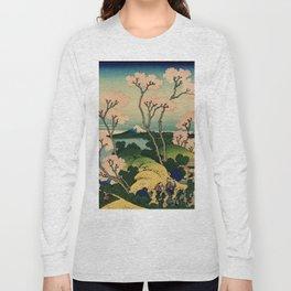 "Hokusai (1760–1849) ""Goten-yama-hill, Shinagawa on the Tōkaidō"" Long Sleeve T-shirt"