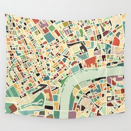 CITY OF LONDON MAP ART 01 Wall Tapestry