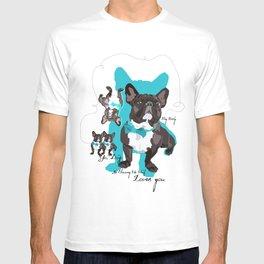 Chauncey Loves You - French Bulldog T-shirt