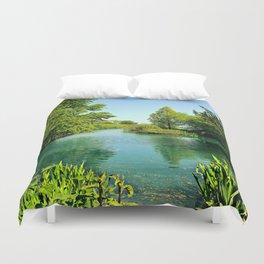 Aqua Lake Duvet Cover