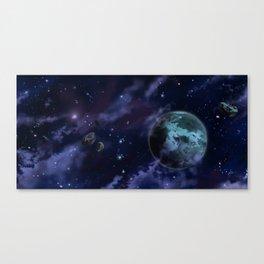 Drifting through Nebulae (Variant) Canvas Print