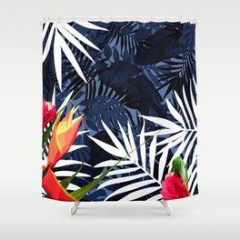 Bold Tropical Paradise Design Shower Curtain