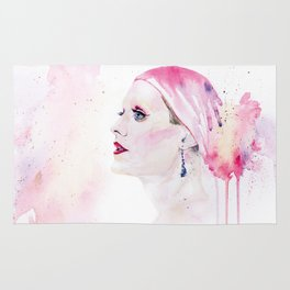Rayon | Jared Leto in Dallas Buyers Club | Watercolor Portrait Rug
