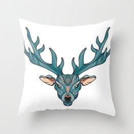 Deer Park- MI_Blue Throw Pillow