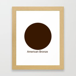 American Bronze Framed Art Print