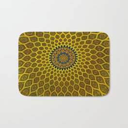 Yellow Arabic Mosaic Bath Mat