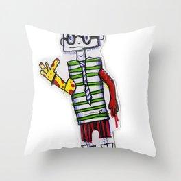 Nerdcore Tomato Eater Throw Pillow