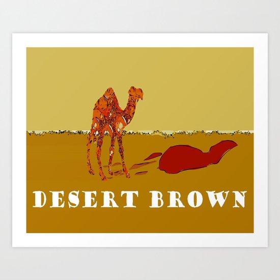 Desert Brown Art Print