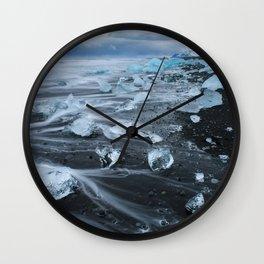 Jokulsarlon Beach - Iceland Print (RR255) Wall Clock