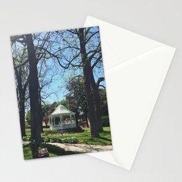 Gazebo in Downtown Petoskey, Michigan Stationery Cards