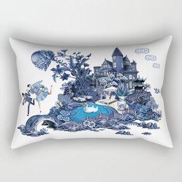 The Lovers Flee Rectangular Pillow