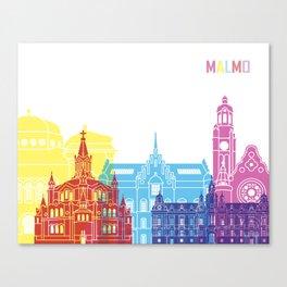 Malmo skyline pop Canvas Print