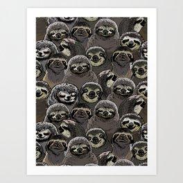Social Sloths Art Print