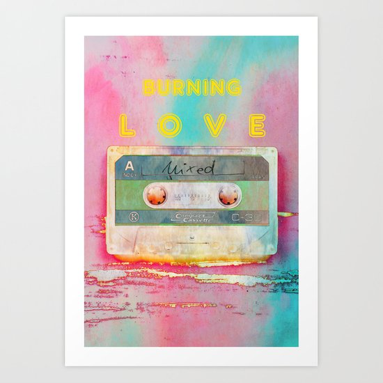Burning Love - Analog zine Art Print