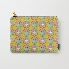 Smiley & Flower Smiley (Yellow Bg) Carry-All Pouch
