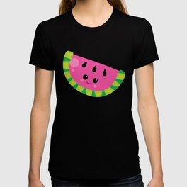Kawaii Fruit Kawaii Watermelon Cute Cartoon Fruit T-shirt