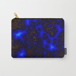 Blue Lightning Abstract Carry-All Pouch