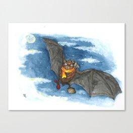 Little Worlds: Travel Bat Canvas Print