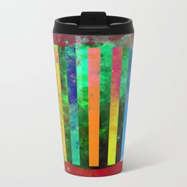 Galactic Stripes - Abstract, geometric, space themed artwork Travel Mug