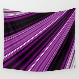 Asexual Pride Thin Diagonal Pleats Wall Tapestry