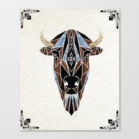 bison Canvas Prints featuring bison by Manoou