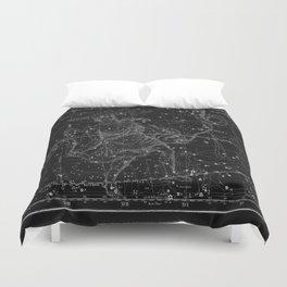 Celestial Map print from 1822 Duvet Cover