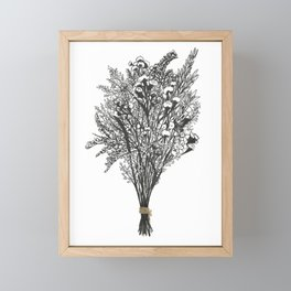 Dry Bouquet with Gold String Framed Mini Art Print
