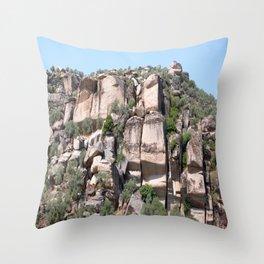 Unusual Rock Formations Near Cine Throw Pillow