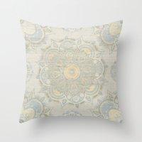islam Throw Pillows featuring Vintage Mandala by Mantra Mandala
