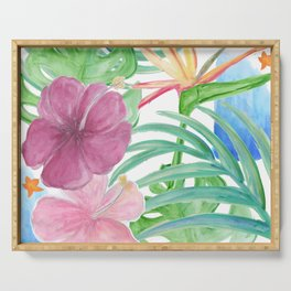 Malia's Tropical Print Serving Tray