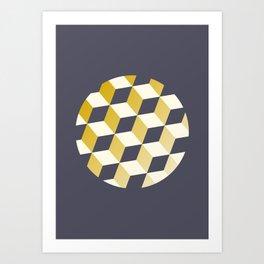 Geometric Circle Study Series No. 2 Art Print