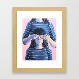 Not Seeing Double Framed Art Print