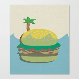 Burger Island Canvas Print