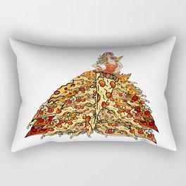 Pizza Peacock Mermaid Dress Rectangular Pillow