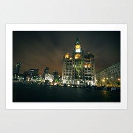 Liver Building, Liverpool Art Print