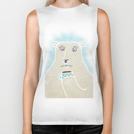 Sleepy Polar Bear Biker Tank