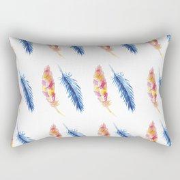 Birds Of A Feather - Watercolor Rectangular Pillow
