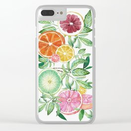 Citrus Fruit Clear iPhone Case