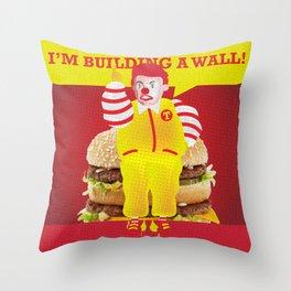 Mc Donald Trump Throw Pillow