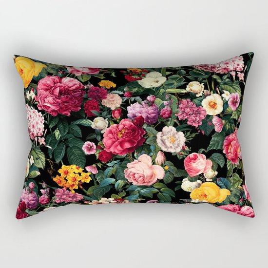 Floral D Rectangular Pillow