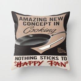 Vintage poster - Happy Pan Throw Pillow